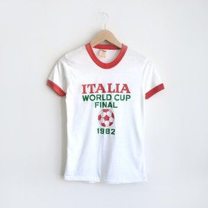 ⚡️Vintage 1982 World Cup Final Soccer Tee - Small